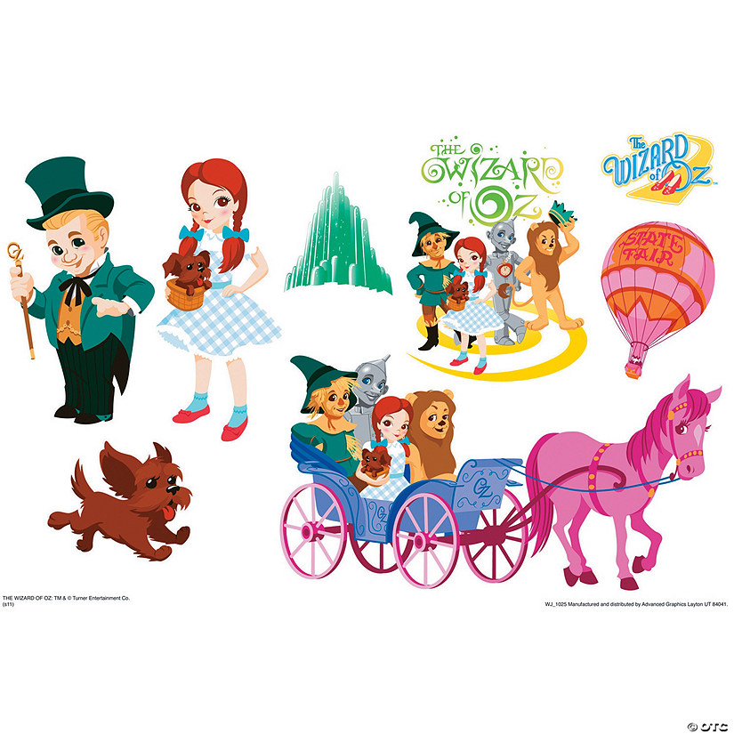 Emerald City Set Wizard Of Oz Kids Art Large Wall Jammer™ Wall Decal