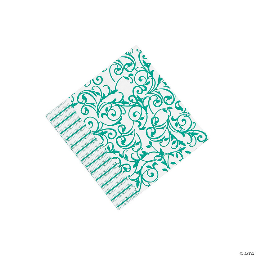 Emerald Swirl Beverage Napkins