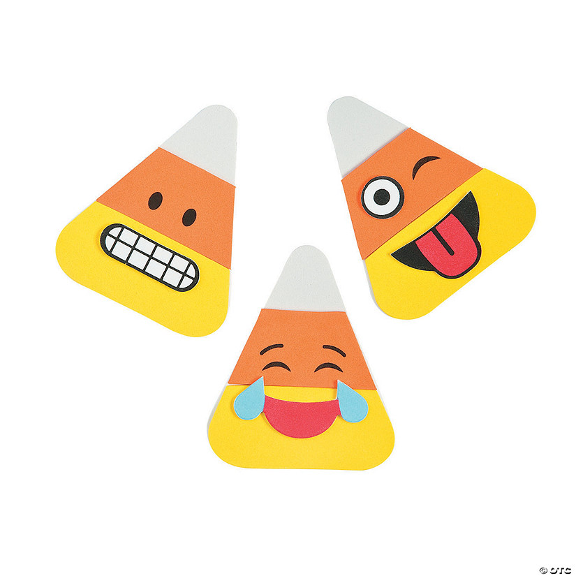 Emoji Candy Corn Magnet Craft Kit