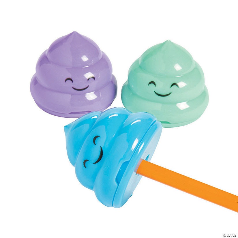 Emoji Poop Pencil Sharpeners