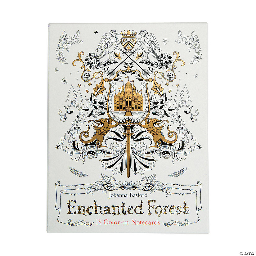 Enchanted Forest Adult Coloring Notecards by Johanna Basford Audio Thumbnail