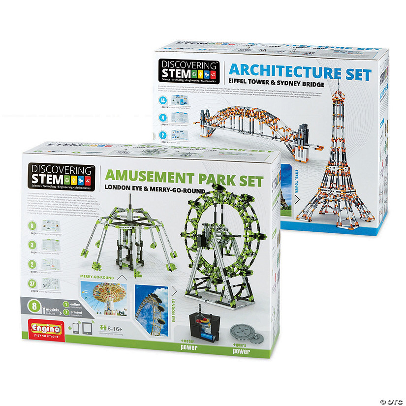 Engino Deluxe Engineering Kits: Set of 2