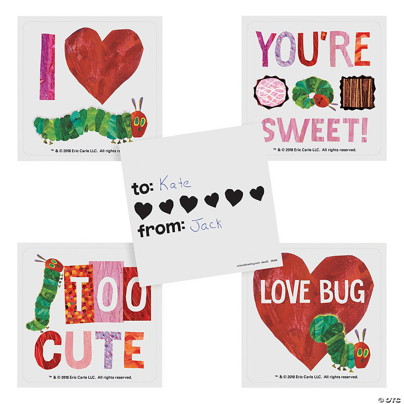 Eric Carle™ Valentine Sticker Sheets Image Thumbnail