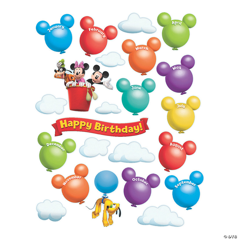 Eureka<sup>®</sup> Mickey Mouse Clubhouse<sup>®</sup> Birthday Bulletin Board Set