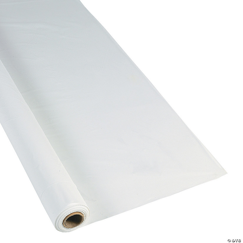 Extra Long White Plastic Tablecloth Roll Audio Thumbnail