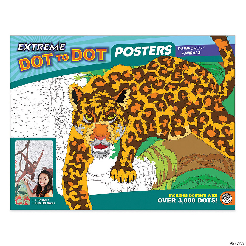 Extreme Dot to Dot 7-Poster Set: Rainforest Animals Image Thumbnail