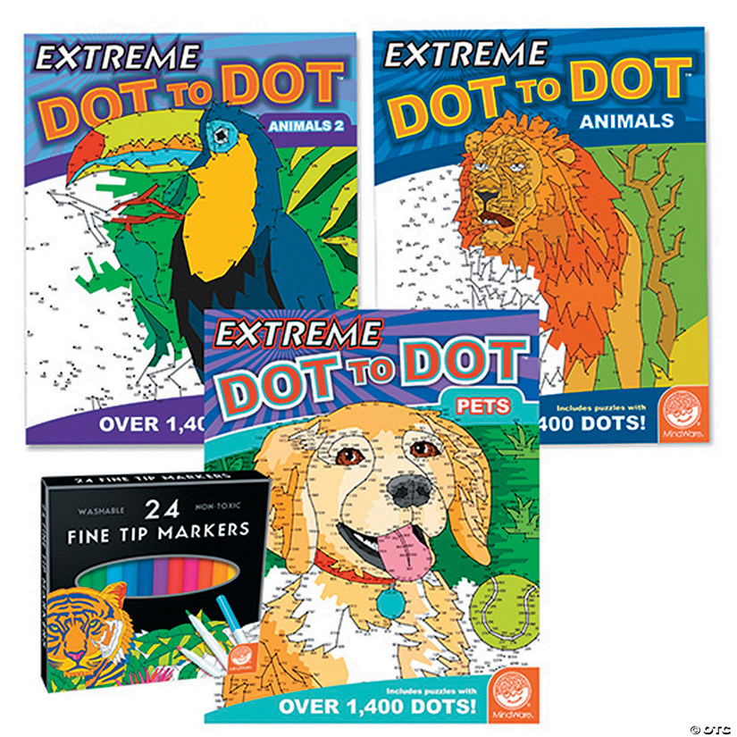 Extreme Dot to Dot: Animal Favorites Set of 3 with FREE MARKERS Image Thumbnail