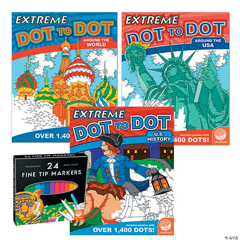 Extreme Dot to Dot: People & Places Set of 3 with FREE MARKERS Image Thumbnail