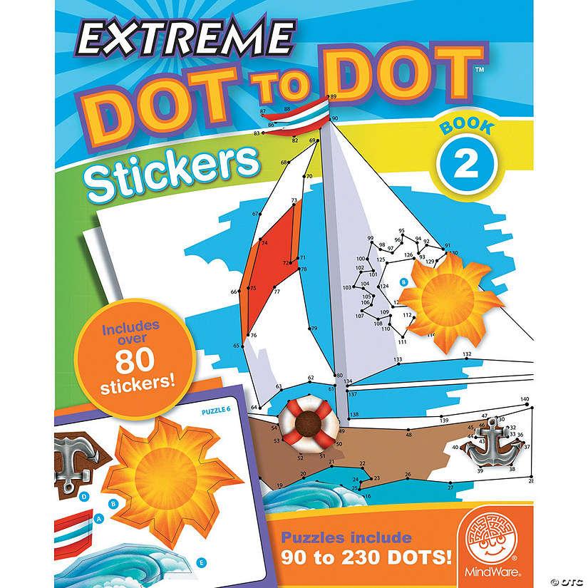 Extreme Dot to Dot Stickers: Book 2