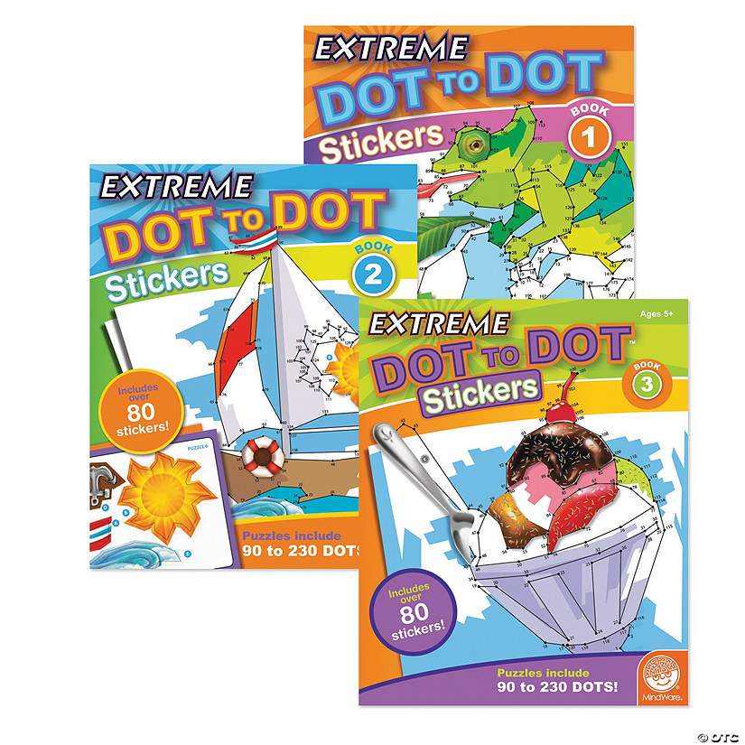 Extreme Dot to Dot Stickers: Set of 3 Audio Thumbnail