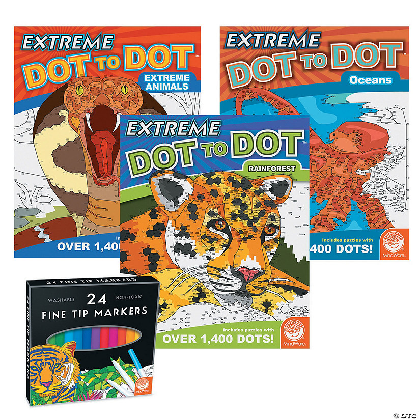 Extreme Dot to Dot: Wildlife Wonders Set of 3 with FREE MARKERS Image Thumbnail