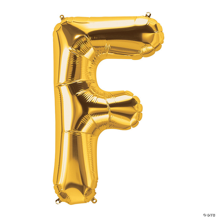 F Gold Letter Mylar Balloon Audio Thumbnail