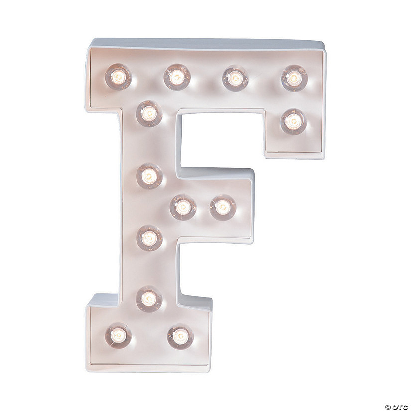 """F"" Marquee Light-Up Kit Image Thumbnail"