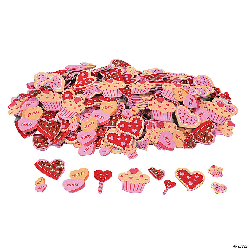 Fabulous Foam Self-Adhesive Valentine Cookie & Candy Shapes