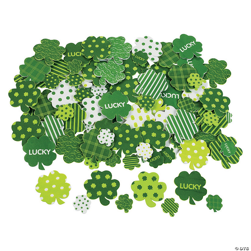 Fabulous Self-Adhesive Shamrock Shapes Image Thumbnail