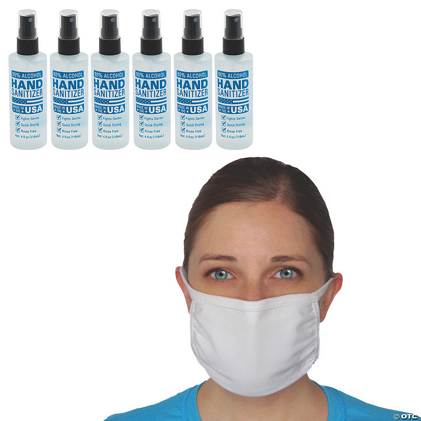 Face Mask & Hand Sanitizer Kit - 16 Pc. Image Thumbnail