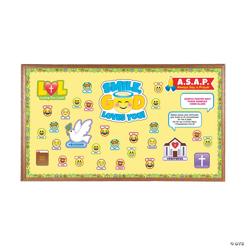 Faith Emoji Bulletin Board Set Image Thumbnail