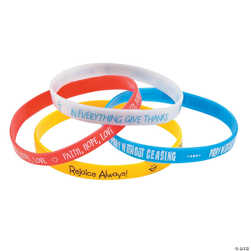 Faith Thin Band Rubber Bracelets