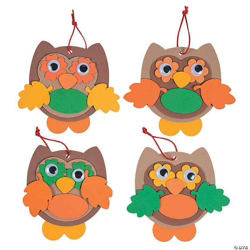Fall Color Owl Ornament Craft Kit Image Thumbnail