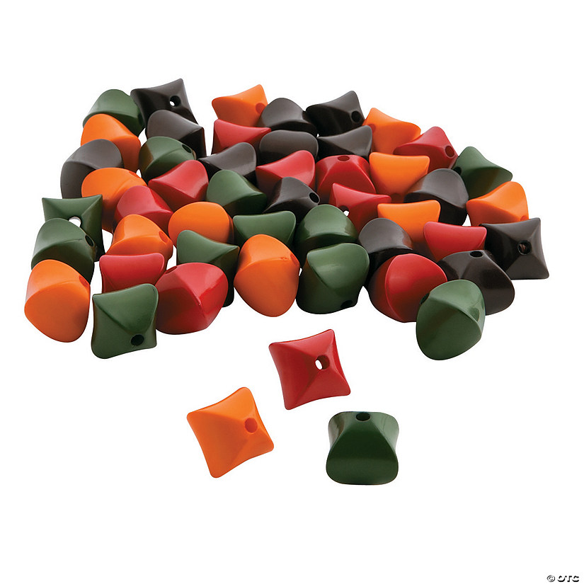 Fall Color Shaped Beads