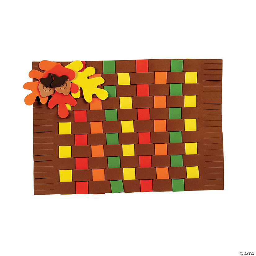 Fall Colors Weaving Placemat Craft Kit Image Thumbnail