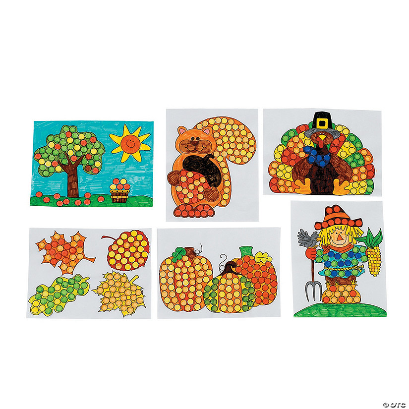 Fall Dot Marker Activity Sheets Audio Thumbnail