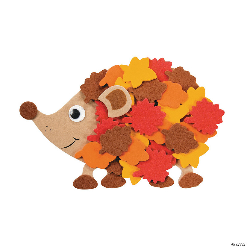 Fall Leafy Hedgehog Magnet Craft Kit Image Thumbnail