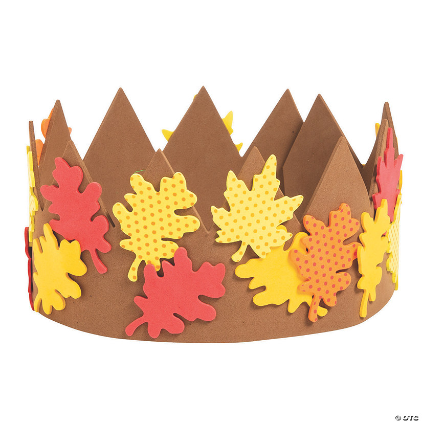 Fall Leaves Crown Craft Kit Image Thumbnail