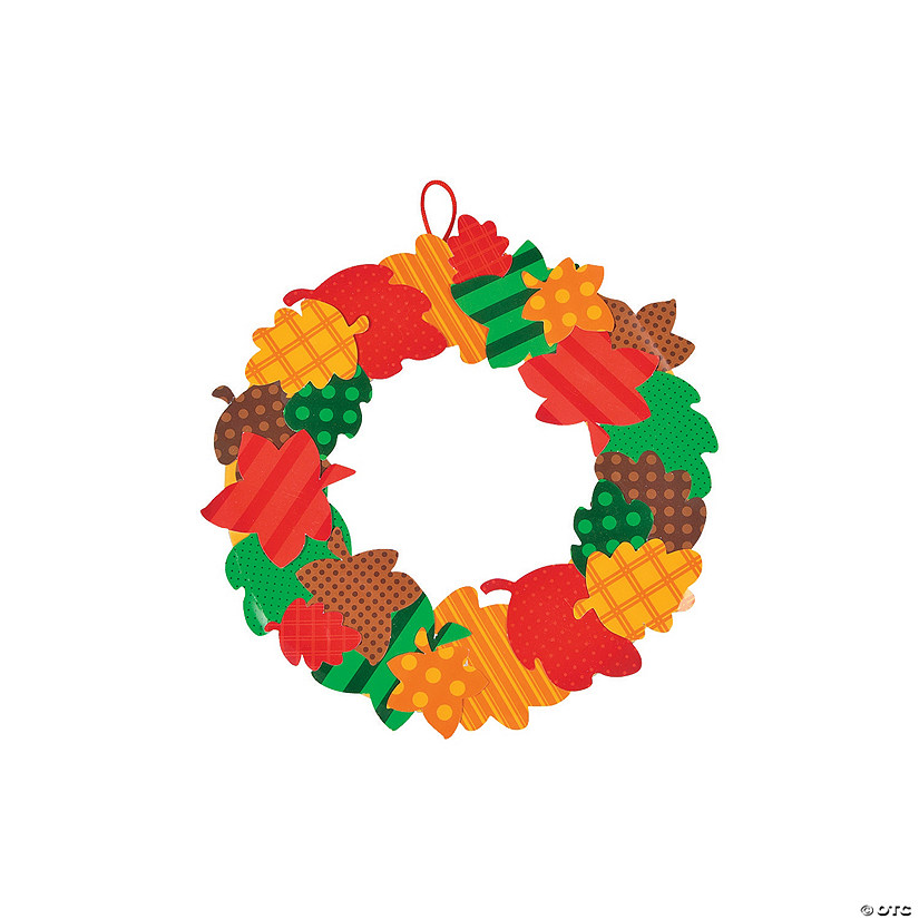 Fall Leaves Paper Wreath Craft Kit