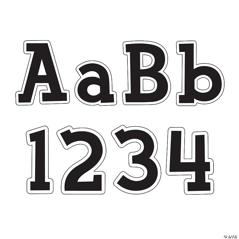 fancy black bulletin board letters numbers
