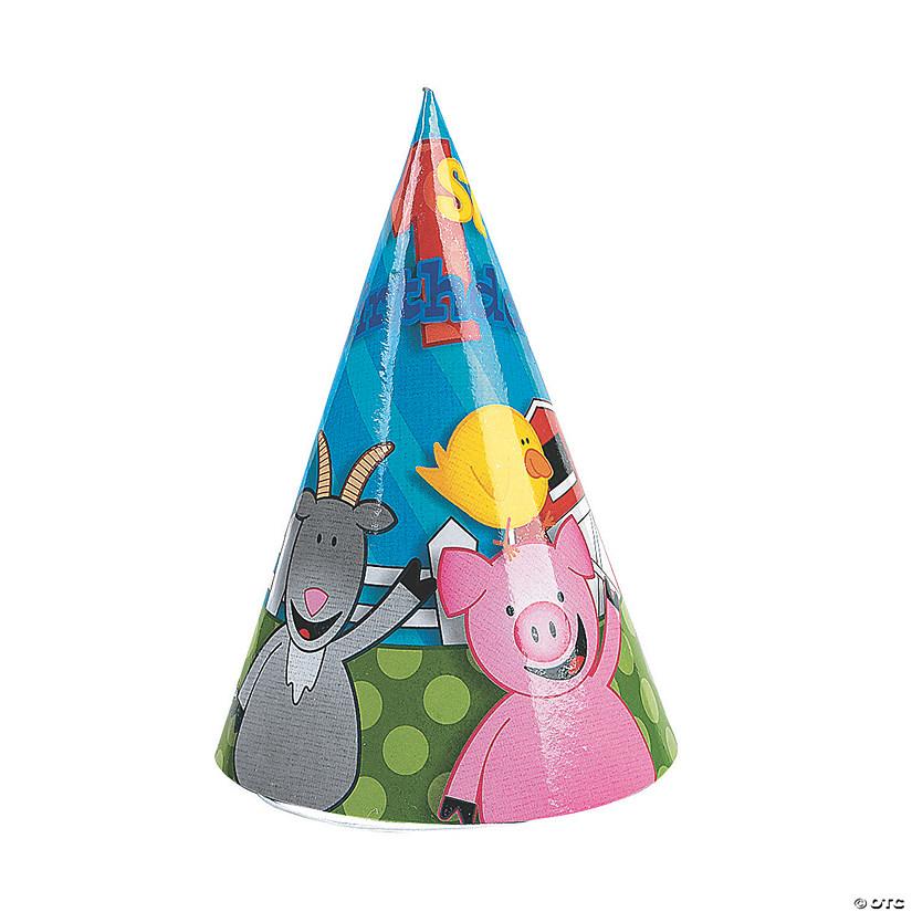 Farm 1st Birthday Cone Hats
