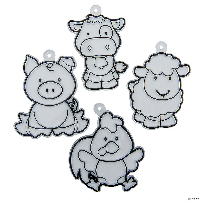 Farm Animal Suncatchers