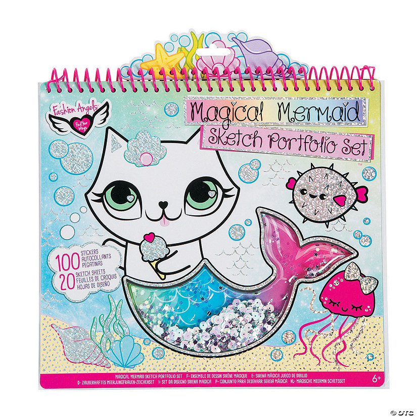 Fashion Angels Color Your Own Magical Mermaid Sketch Portfolio