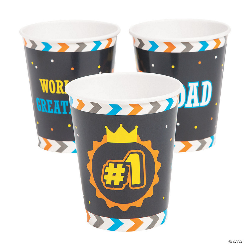 Father's Day Paper Cups Image Thumbnail