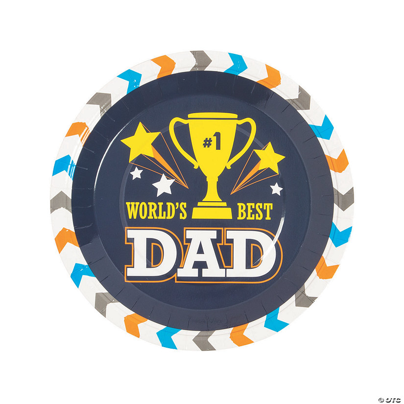 Father's Day Paper Dinner Plates - 8 Ct. Image Thumbnail