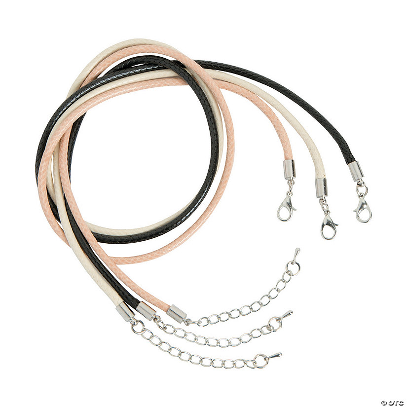 Faux Leather Cording Necklaces