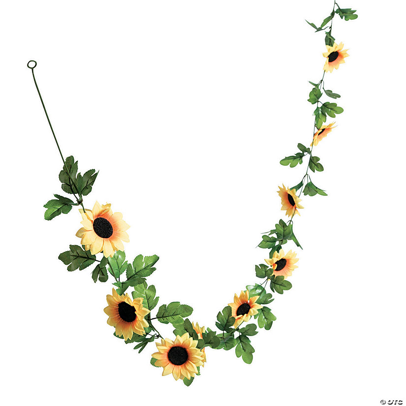 Faux Sunflower Greenery Garland Audio Thumbnail