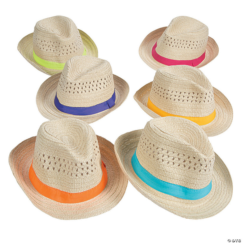 6b7f64bc5712f Fedoras with Colorful Band