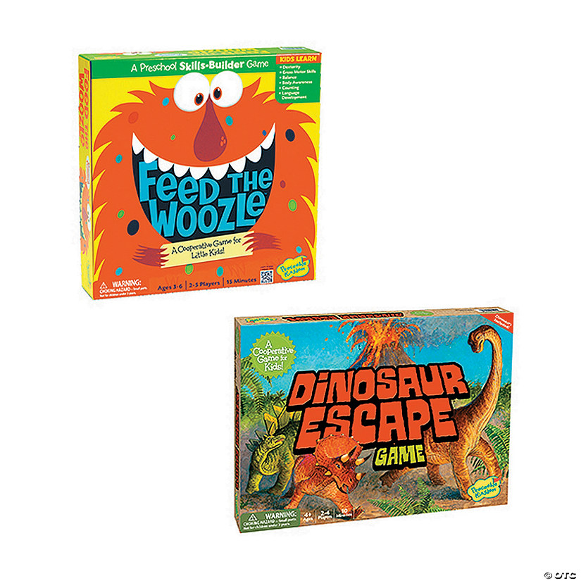 Feed the Woozle and Dinosaur Escape: Set of 2