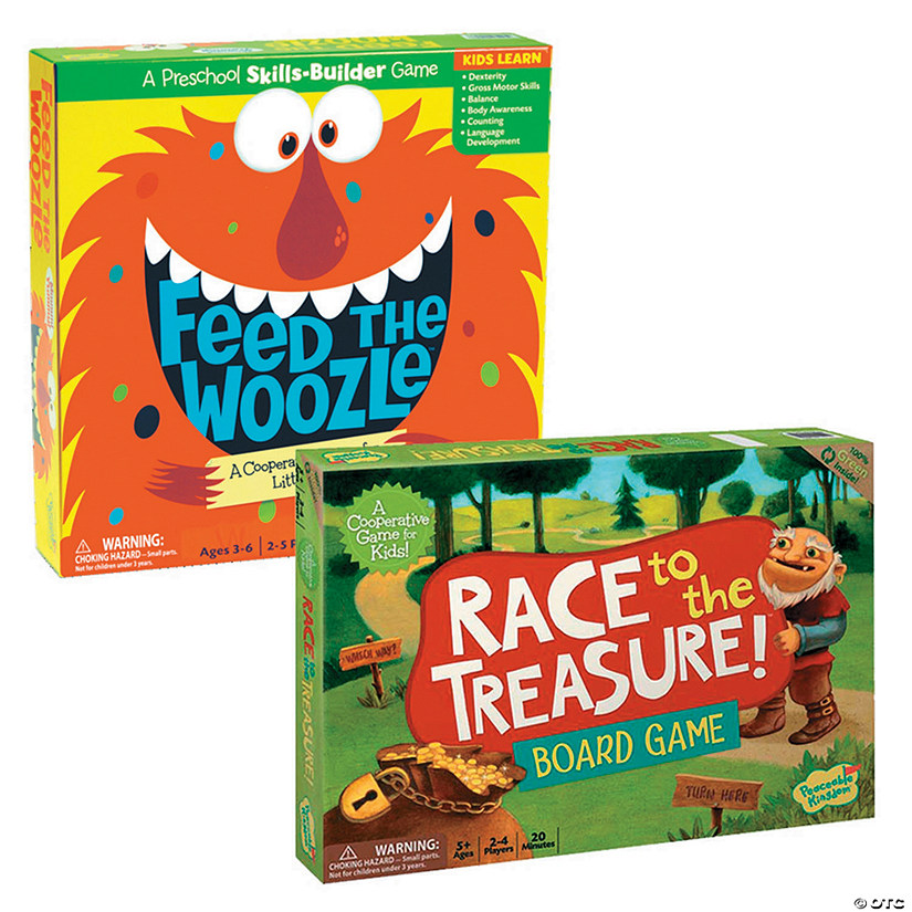 Feed The Woozle and Race To The Treasure: Set of 2