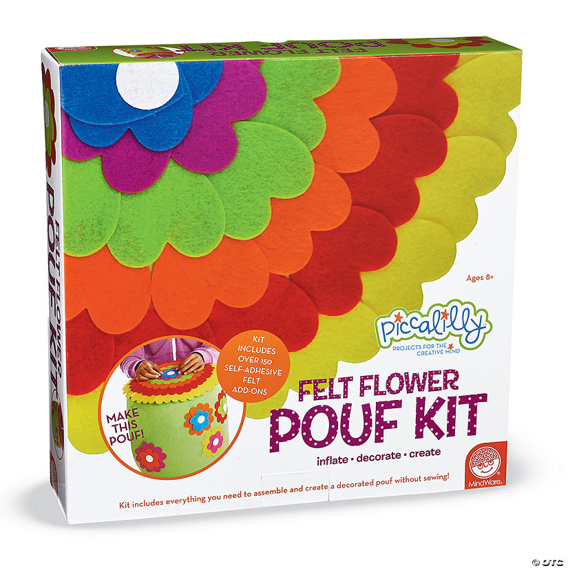 Felt Flower Pouf Kit Image Thumbnail