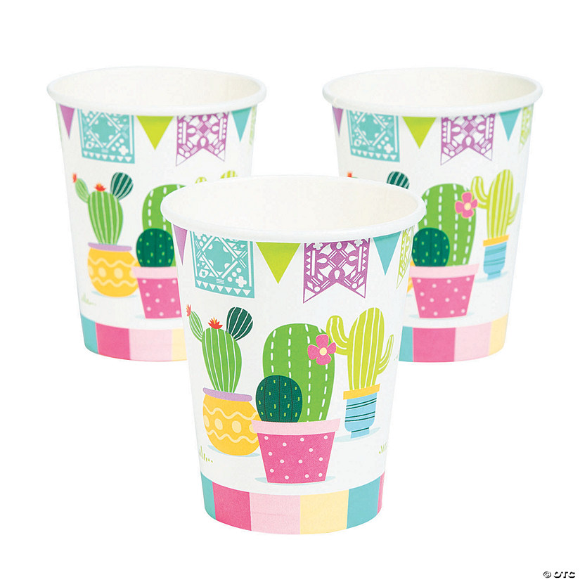 Fiesta Baby Cactus Paper Cups Image Thumbnail