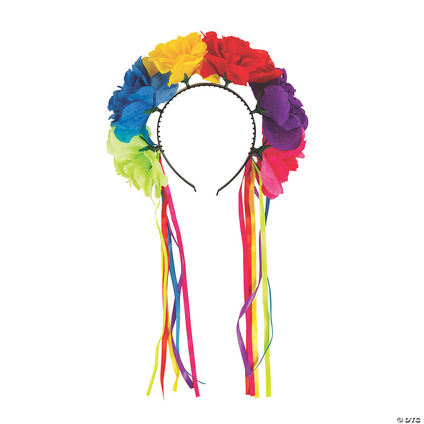 Fiesta Flower Ribbon Headbands Image Thumbnail