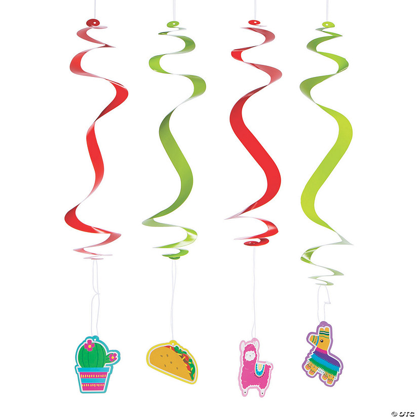 Fiesta Hanging Swirl Decorations - 12 Pc. Audio Thumbnail