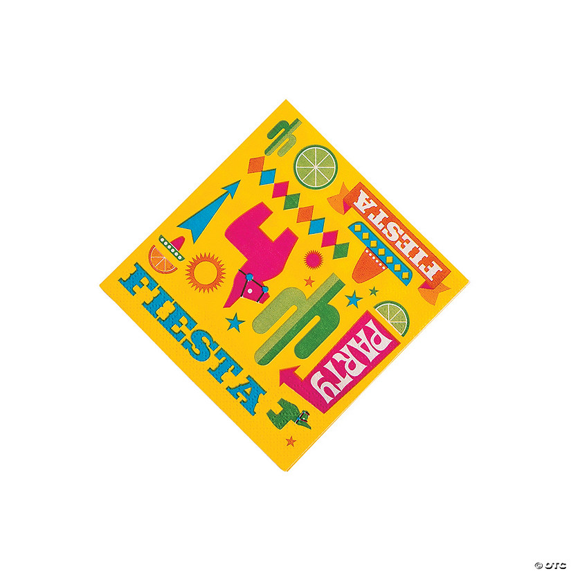 Fiesta Party Beverage Napkins Image Thumbnail