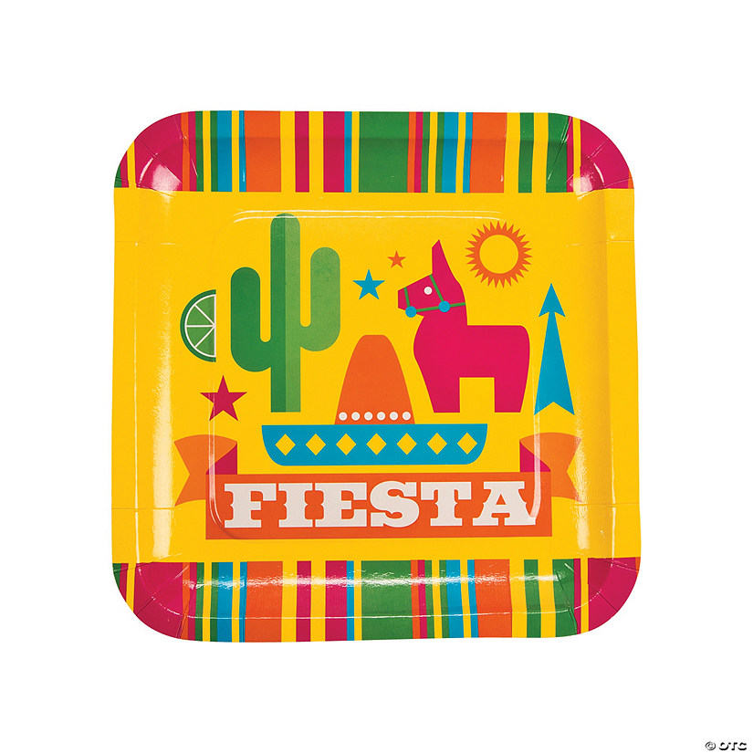 Fiesta Party Paper Dinner Plates - 8 Ct. Image Thumbnail