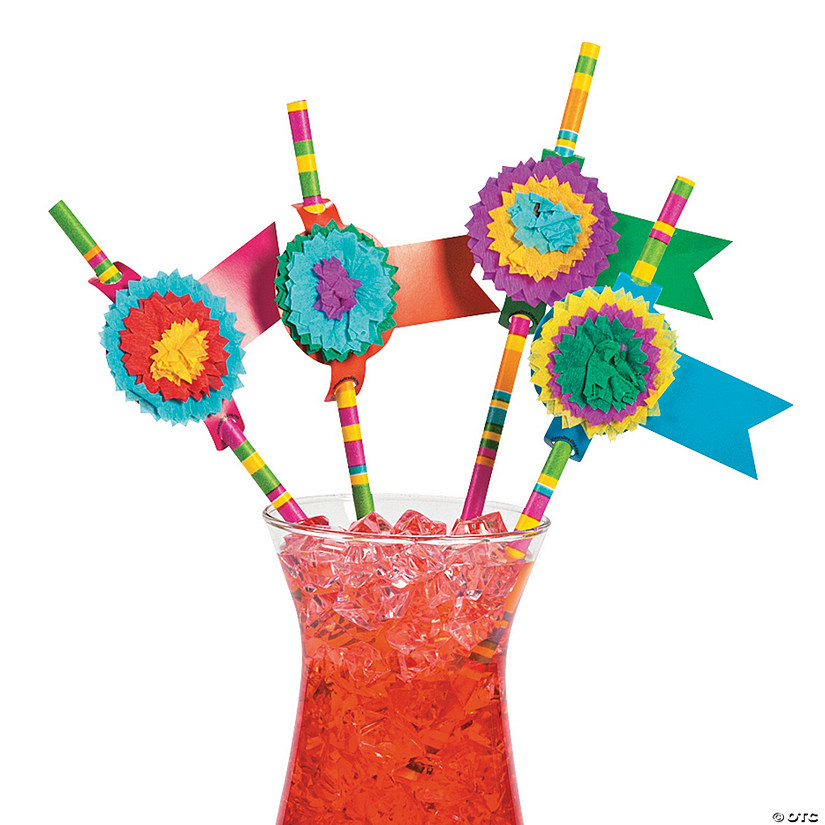 Fiesta Party Paper Straws Image Thumbnail