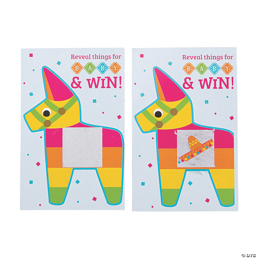 Fiesta Scratch Card Baby Shower Game | Oriental Trading