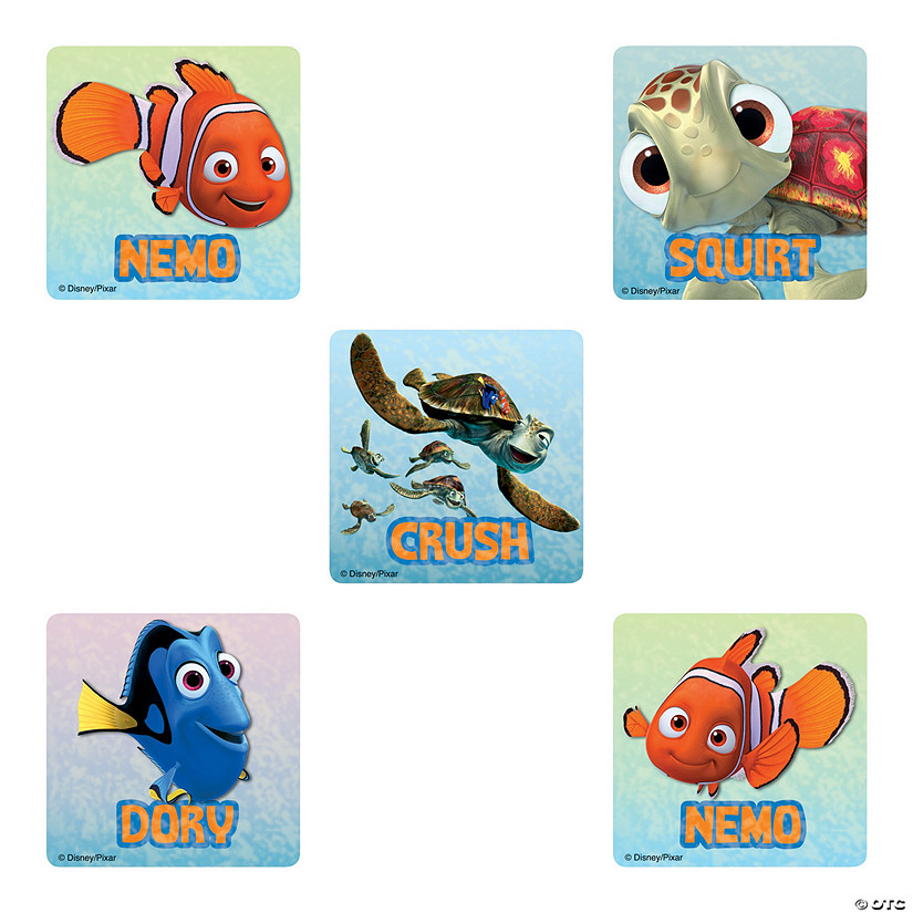 Party Favors 10 Finding Nemo Large Stickers