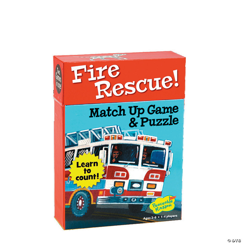Fire Rescue Numbers Match Up Game Image Thumbnail